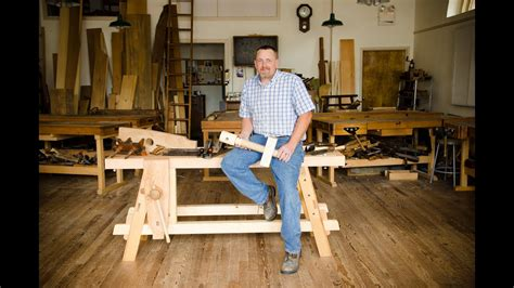 portable moravian workbench   woodwrights school