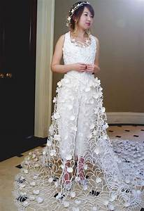 the bride wore rolls and rolls of toilet paper mnn With how to make a wedding dress out of toilet paper