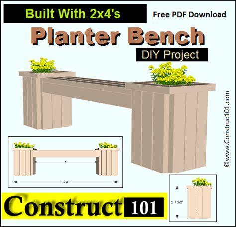 outdoor garden bench plans  construct