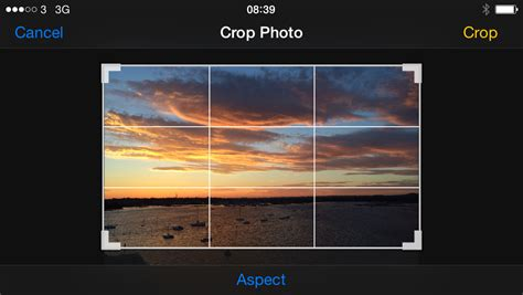 how to crop a on iphone how to crop an image on iphone and