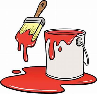 Vector Paint Cartoon Cans Bucket Clip Clipart