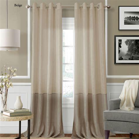 semi sheer curtains melody semi sheer grommet curtain panels