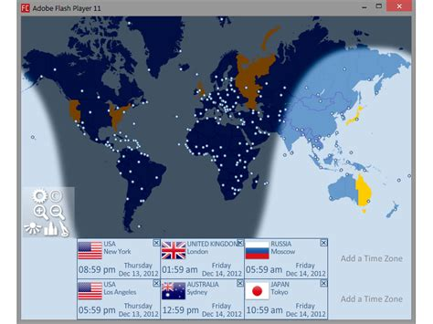 world clock portable multiple time zone clock released