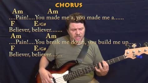 Believer (imagine Dragons) Bass Guitar Cover Lesson In Am