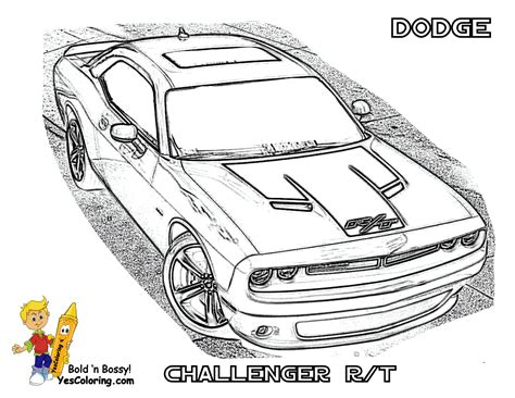 Dodge Challenger Coloring Page Online Coloring   Car