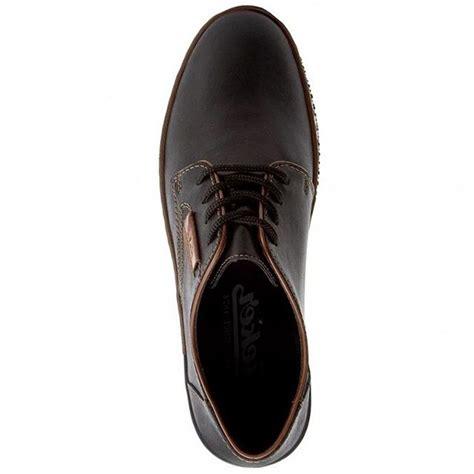 Rieker dabīgās ādas apavi, melnas vīriešu kurpes ar auklu ...