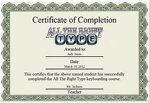 atrt 4 online ingenuity works With typing certificate template