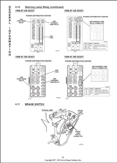 dodge ram  trailer wiring diagram  abs brake