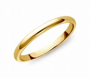 classic wedding ring in 18k gold 2mm blue nile With classic gold wedding rings