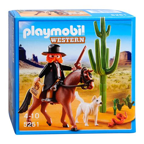 playmobil sheriff huis playmobil 5251 sheriff te paard online kopen lobbes nl