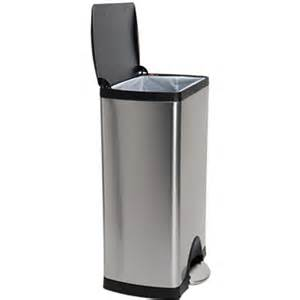 trash cans rectangular step can by simplehuman