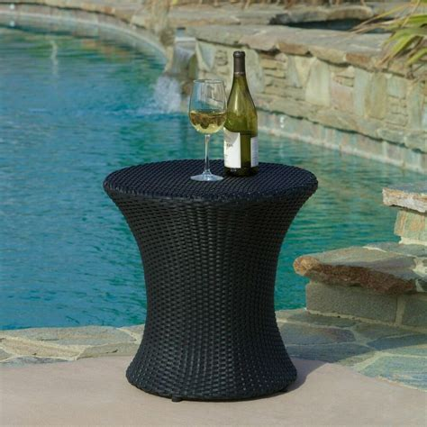 Shop now for quick delivery in singapore! Outdoor Patio Furniture Black PE Wicker Side Table | eBay