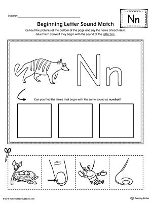 letter n beginning sound worksheets letter n tracing printable worksheet myteachingstation