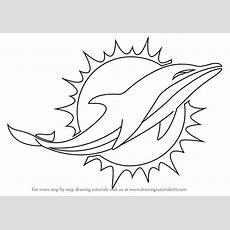 Step By Step How To Draw Miami Dolphins Logo Drawingtutorials101com