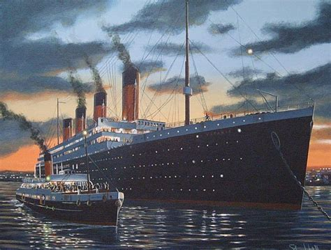 Boat Paint Belfast by The Smaller Ship Next To The Titanic In This Painting Is