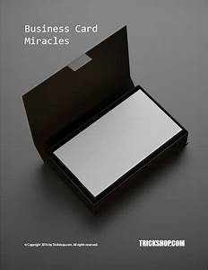 business card miracles magic tricks with business cards With business card tricks