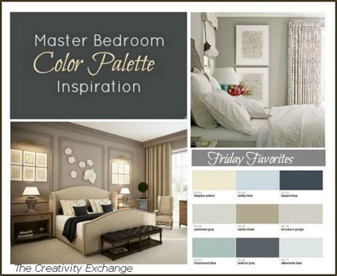 Color Palettes For Bedrooms by Master Bedroom Paint Color Inspiration Friday Favorites