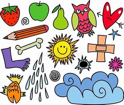 Whimsical Icon Random Cartoon Illustration Icons Dingbat
