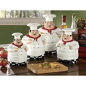 Fat Chef Kitchen Canister Sets  Kitchen Accents With A Theme