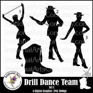 Drill Dance Team Silhouettes set 1 - 4 png digital ...