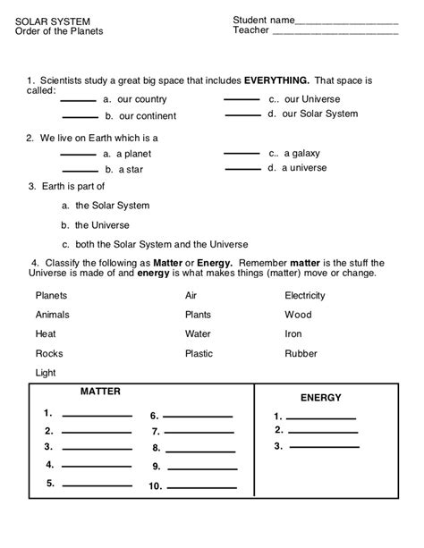 4th grade science and motion worksheets fourth