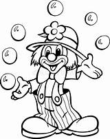 Clown Circus Pagliaccio Coloring Juggling Balls Circo Pagina Coloritura Zirkus Vom Het Jongleren Ballen Dal Giocoliere Della Palle Jonglieren Grappige sketch template