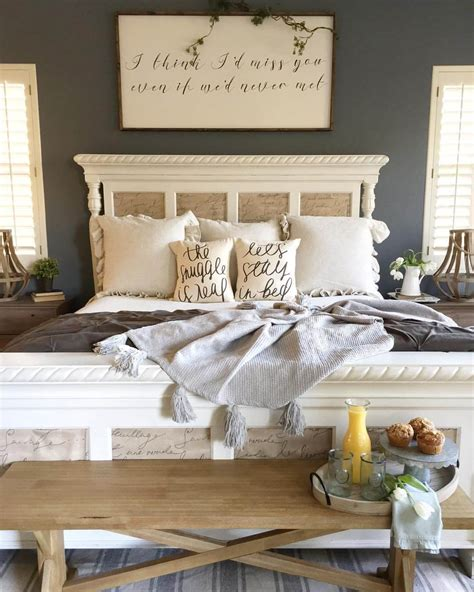 Modern Wall Decor Ideas For Bedroom by 39 Best Farmhouse Bedroom Design And Decor Ideas For 2017