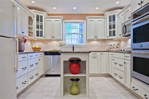 kitchen cabinets different heights dc metro travertine backsplash tile kitchen transitional 6017