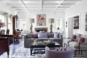 Narrow Rectangular Living Room Layout by Color Scheme Purple And Grey Eclectic Living Home