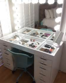 Makeup Desk With Lights And Mirror by Best 25 Ikea Makeup Storage Ideas On Pinterest Diy