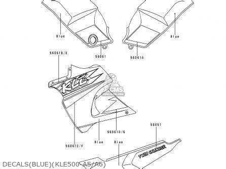 kawasaki kle500a5 1995 europe uk fr nl ar fg gr it nr sd sp st parts list partsmanual partsfiche
