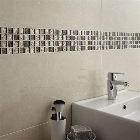 frise carrelage salle de bain leroy merlin mosa 239 que mur glass select mix marron leroy merlin