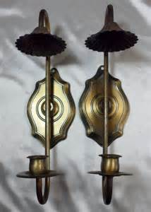 home interior candle holders vtg homco home interior colonial early american candle sticks holders sconces ebay