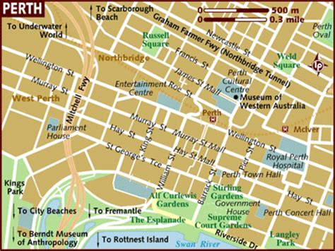 perth australia city map perth australia mappery