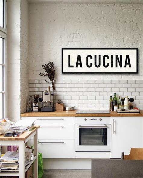 cucina cacher la cucina sign italian kitchen decor farmhouse sign