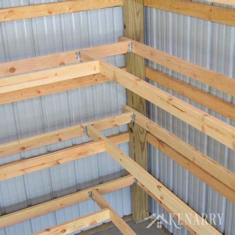 diy corner shelves  garage  pole barn storage shop