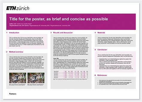 research poster template research poster services resources eth zurich