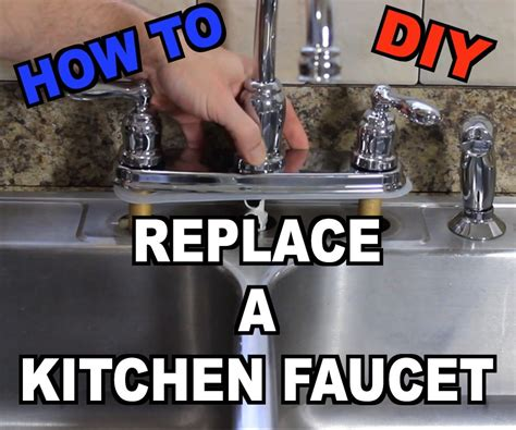 changing a kitchen sink faucet how to replace a kitchen sink faucet