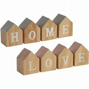 House shape home love letter blocks mint and molly for Home letter blocks