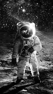 Astronaut, Space, Art, Moon, Dark, Bw, Wallpaper, Hd, Iphone