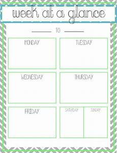 week at a glance printable this that pinterest With week at a glance lesson plan template