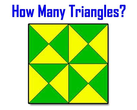Wanita Dewasa Menurut Pria Test Yourself How Many Triangles