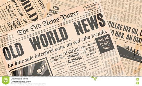old newspaper design vector template stock vector illustration 77486179