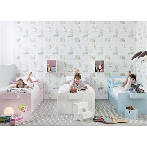 chambres d enfants chambre 3 enfants avec lits unitaires et rangement asoral