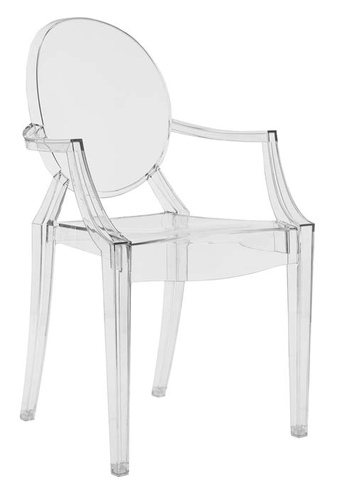 chaises stark louis ghost stackable armchair transparent polycarbonate transparent by kartell