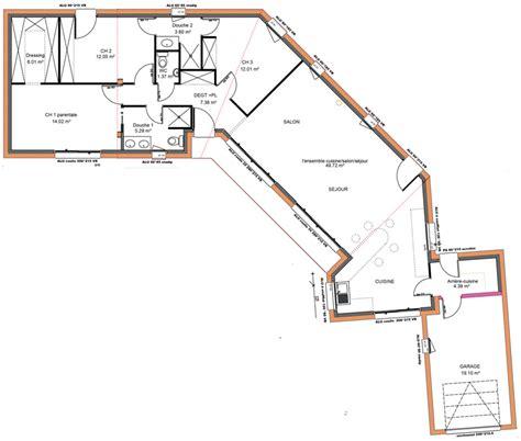 plan de maison moderne plain pied 4 chambres plan villa plain pied 4 chambres evtod