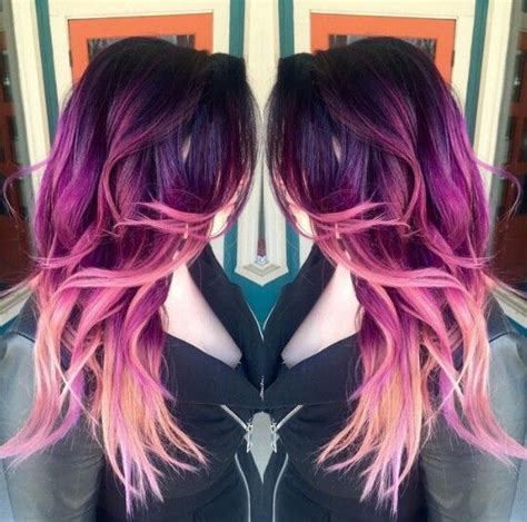 Magenta Purple Pink Ombre Hair Dyed Hair And Pastel Hair