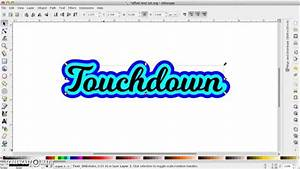 offset text in inkscape the easy way youtube With where can i get vinyl letters