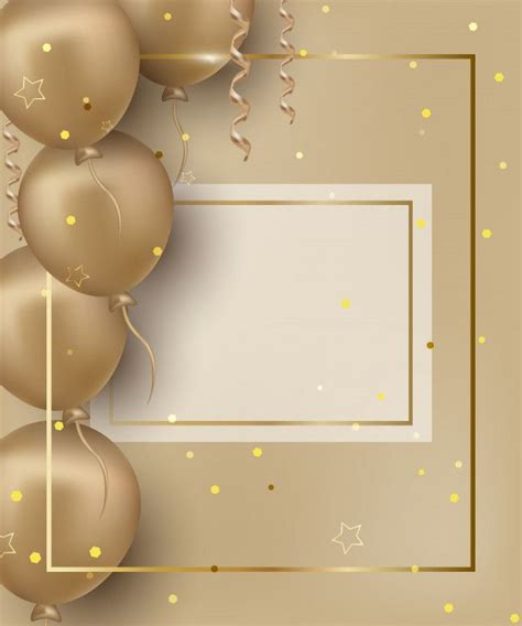 happy birthday greeting card  golden premium