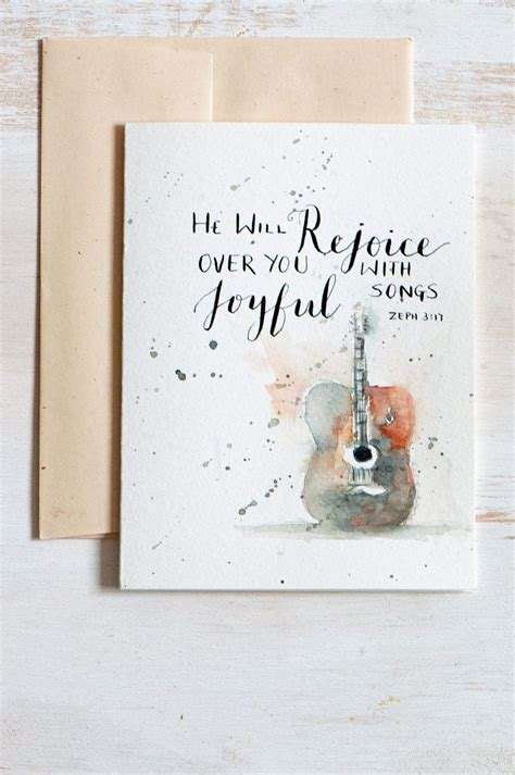 original greeting card watercolor card hand lettered
